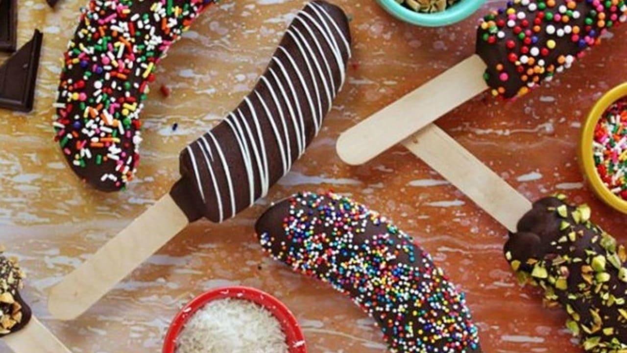 Es krim Pisang Coklat, Sajian Enak untuk Anak-Anak